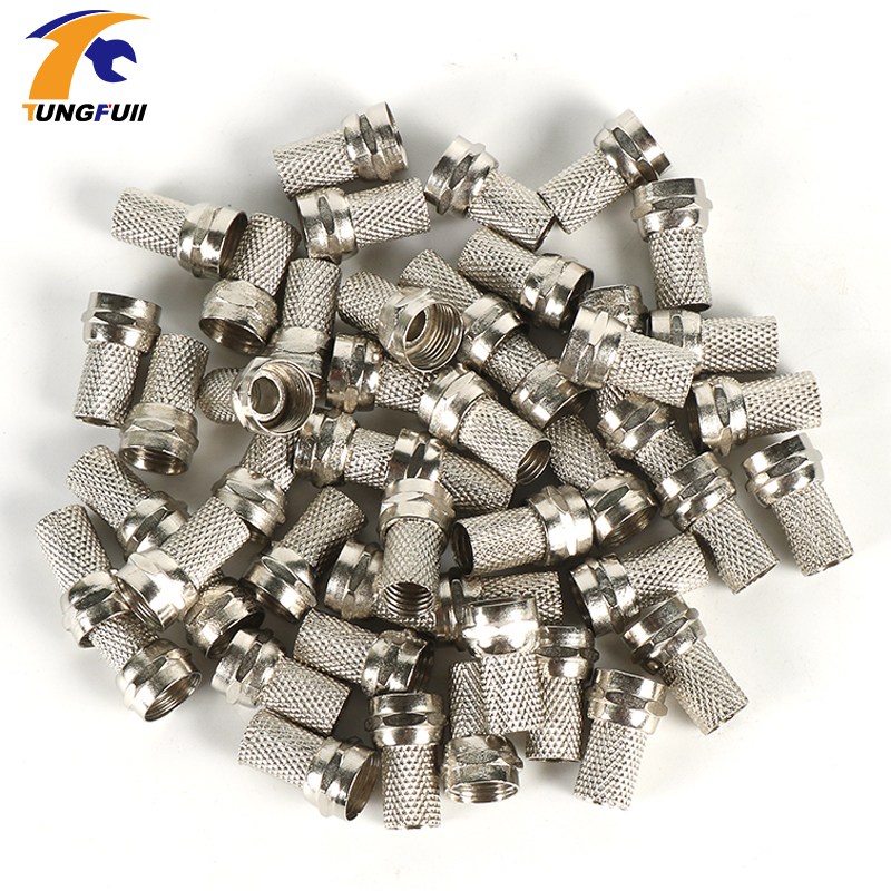 High quality 50pcs RG6 F Type Coaxial RF/AV Signal Cable Connector TerminalsPlugsHigh quality 50pcs RG6 F Type Coaxial RF/AV Signal Cable Connector TerminalsPlugs