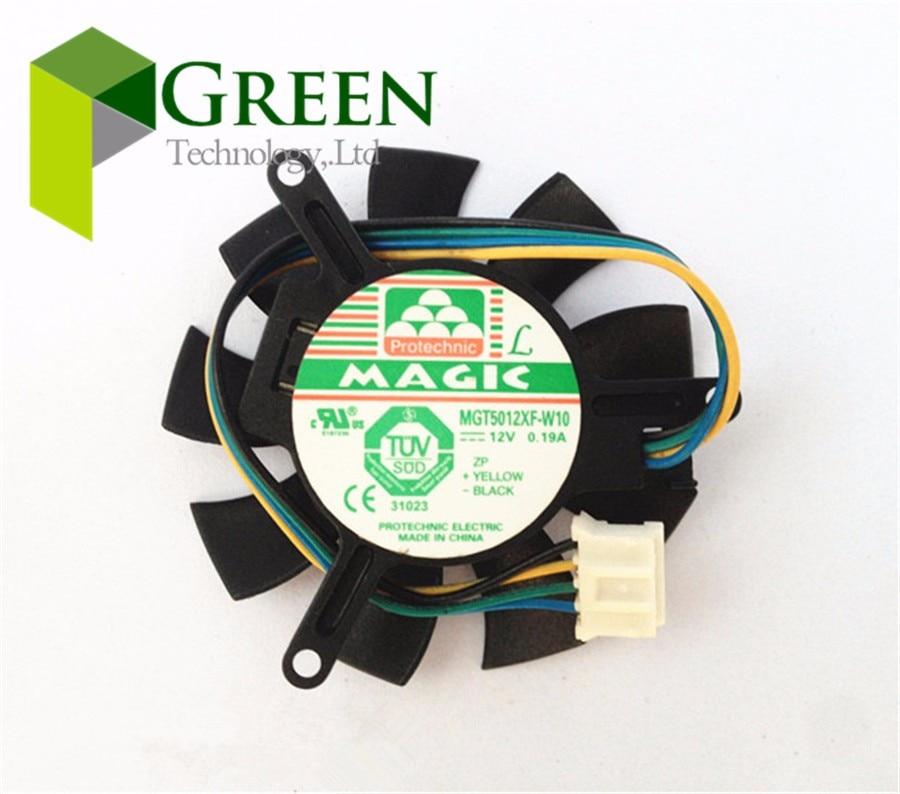 For MAGIC MGT5012XF-W10 MGT5012XR-W10 Graphics card fan DC 12V 0.19A 4-Pin