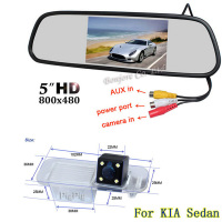 5 Color HD TFT LCD Car Rearview Mirror Monitor 800 480 Car Backup Camera HD Rear