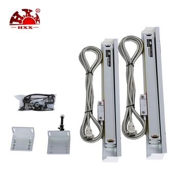 Codificadores de desplazamiento lineal remoto de torno de 400mm 5um lectura lineal digital del fabricante hxx con una sola pieza