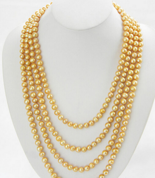 FREE SHIPPING FINE832 LONG 100 9MM GOLDEN ROUND FRESHWATER PEARL NECKLACE 28% Discount HOT HOT sell 2016 hot sell classic 100