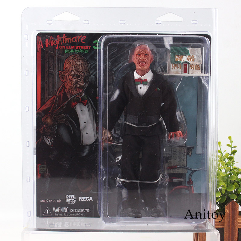 Horror Movie Figures A Nightmare on Elm Street 3 Freddy Krueger with Lighting House NECA Toys PVC Action Figure Collection Toy цены