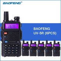 6pcs/lot BAOFENG UV 5R Walkie Talkies Dual Band VHF UHF Portable Walkie Talkie Two way Ham Radio Transceiver UV5R 2 Way Radios