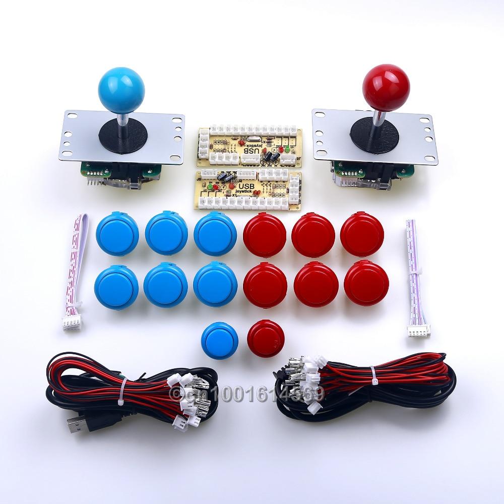 New 2 Player Mini Table Top Arcade Machine Diy Kits Parts