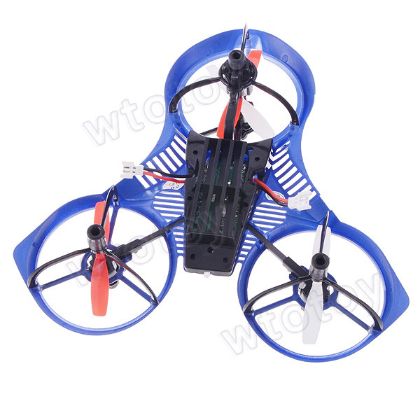 2.4G 4 Channel 3D RC UFO Aircraft The Unique RC Helicopter with Light & Gyro RTF Blue  20864