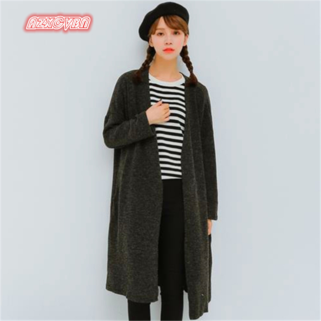 En la primavera de 2017, la mujer con largo suéter de la capa delgada chaqueta de punto Jersey de mujer ss001 Manche Longue