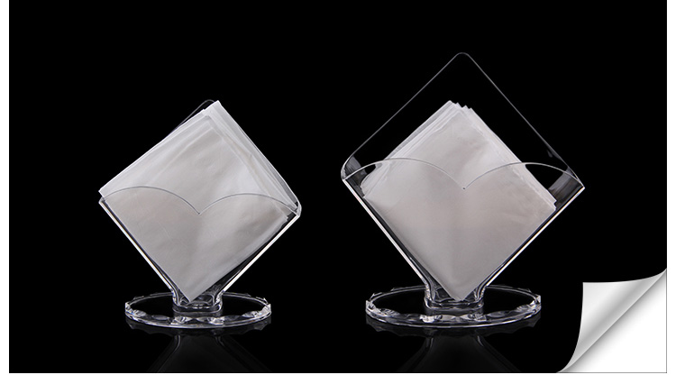 10PCS Grade acrylic tissue outlet  Tissue holders pumping dining table   standing napkin box. Popular Table Tissue Holder Buy Cheap Table Tissue Holder lots