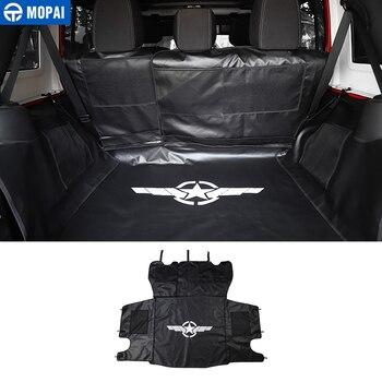 MOPAI Stowing Tidying for Jeep Wrangler JK 2007 Up Car Trunk Pet Seat Cover Mat Hammock for Jeep JK Wrangler Accessories 4 Door