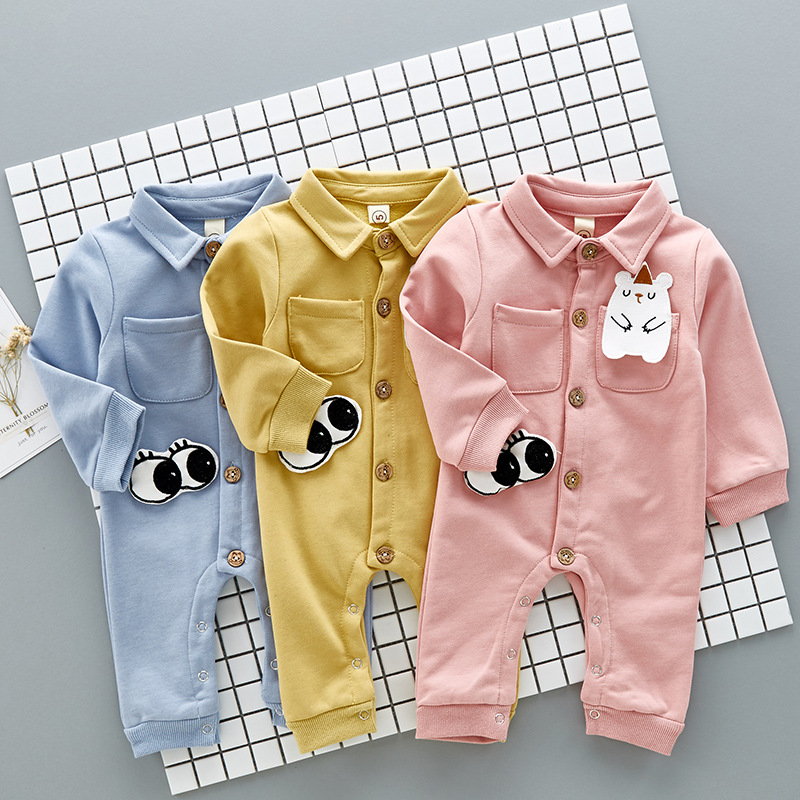 Animal Costume Newborn Baby Boy Jumpsuit Clothing Baby Girl Rompers Overalls for Toddler Infant Turn Down Collar Polo Clothes baby rompers one piece newborn toddler outfits baby boys clothes little girl jumpsuit kids costume baby clothing roupas infantil