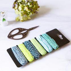 6 видов цветов/комплект цвет FUL веревка Аксесуар для поделок ремесла детский сад шпагат, веревка Подарочная коробка Упаковка конверт