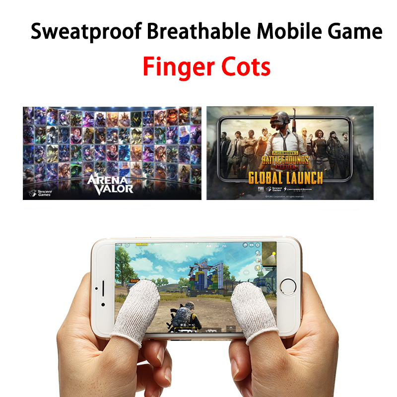 AOV/PUBG Touch Screen Mobile Game Finger Cots Sweatproof Anti-static Breathable Finger Stall For iPhone Android iPad Gaming ToolAOV/PUBG Touch Screen Mobile Game Finger Cots Sweatproof Anti-static Breathable Finger Stall For iPhone Android iPad Gaming Tool