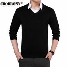 Einfarbig Kaschmir Pullover Männer 2016 Neue Ankunft V-ausschnitt Herren pullover Wolle Casual Pullover Männer Langarm-shirt Marke Pull 4XL