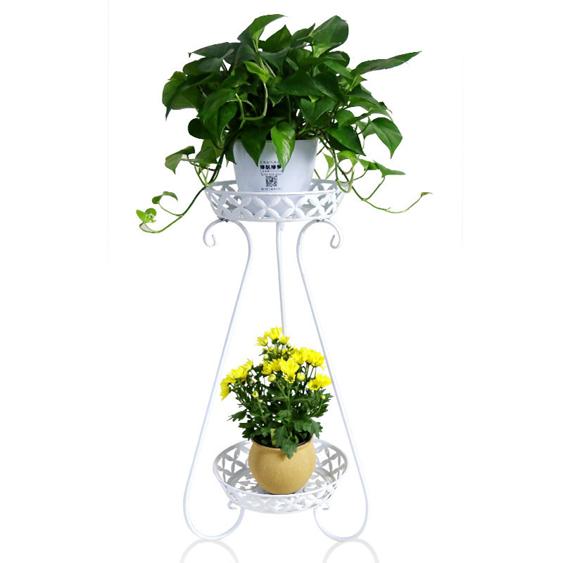 Фотография outdoor plants garden European style indoor modern living room metal iron decoration shelves green flower shelf flowerpot rack