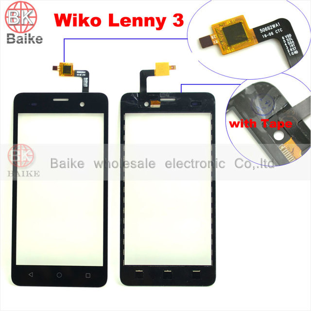 For Wiko Lenny3 Digitizer Touch Screen for Wiko Lenny 3 Glass sensor Panel TouchScreen Black