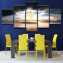 Wall Art 5 Pieces Jesus Is Coming Paintings Religion Pictures Framework