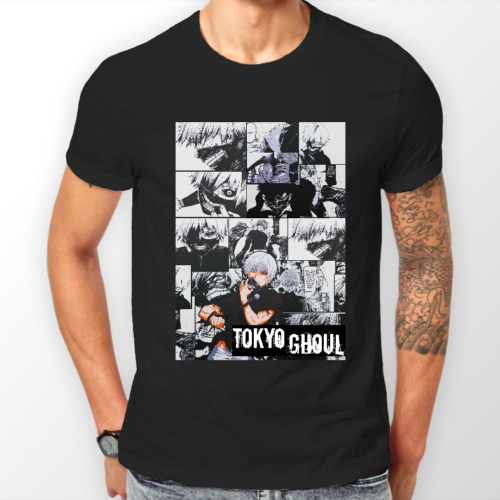 Tokyo Ghoul Ken Kaneki Manga Strip Anime Unisex Tshirt T-Shirt Tee ALL SIZES