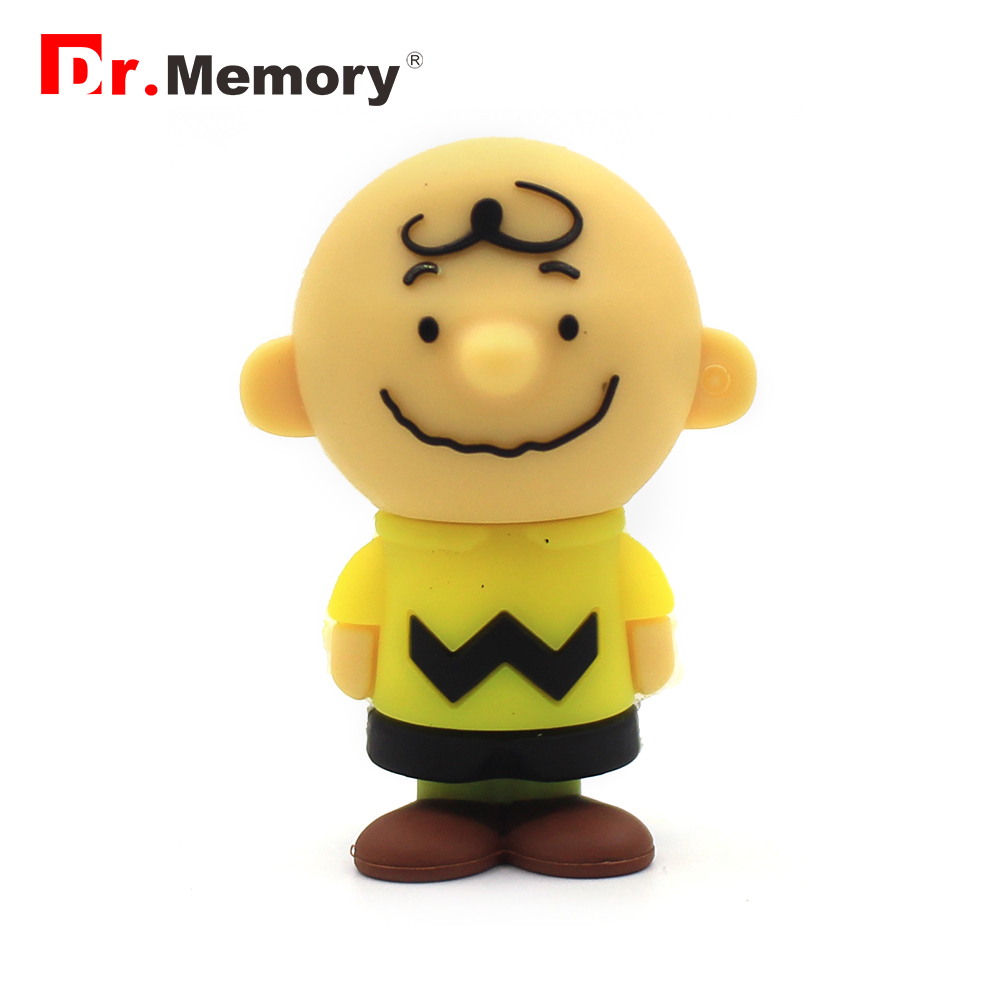 Dr.memory Cartoon Charlie Brown Pendrive Usb Flash Memory Drive 128GB Usb Stick 64GB 32GB 16GB 8GB 4GB Toy Peanuts