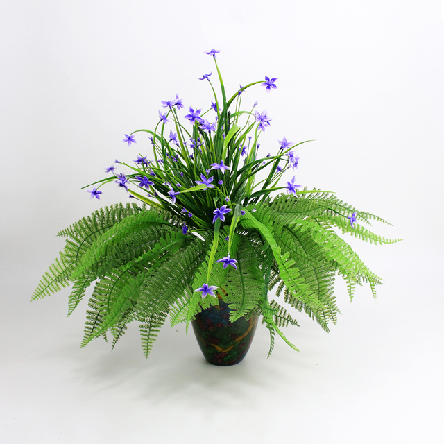 uland artificial plants branches tree leaves fabric spray foliage Artificial Plants for Office Decor