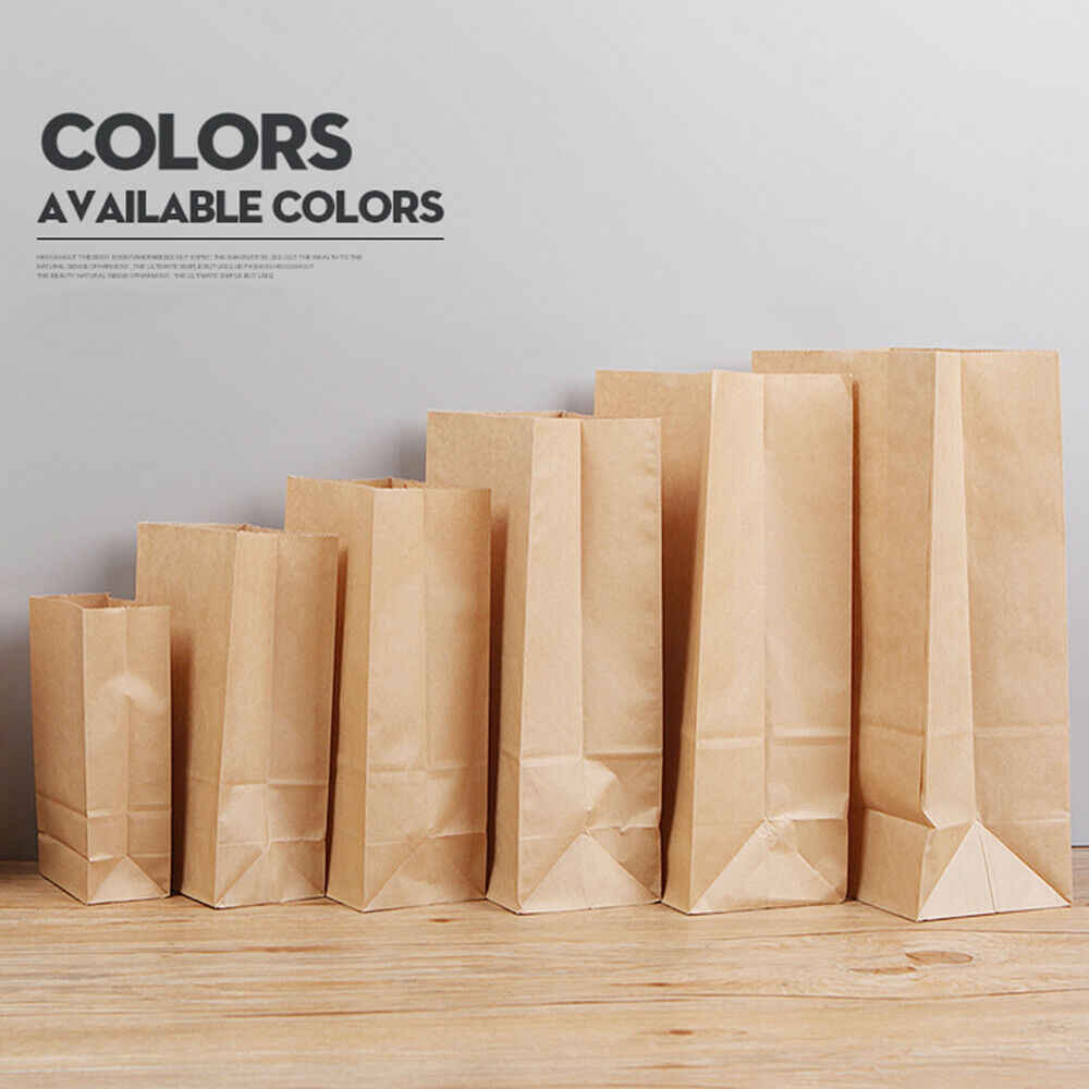 Thick Kraft Paper Bag, Candy Party Gift Wedding Food Package Bag 10~100PCS