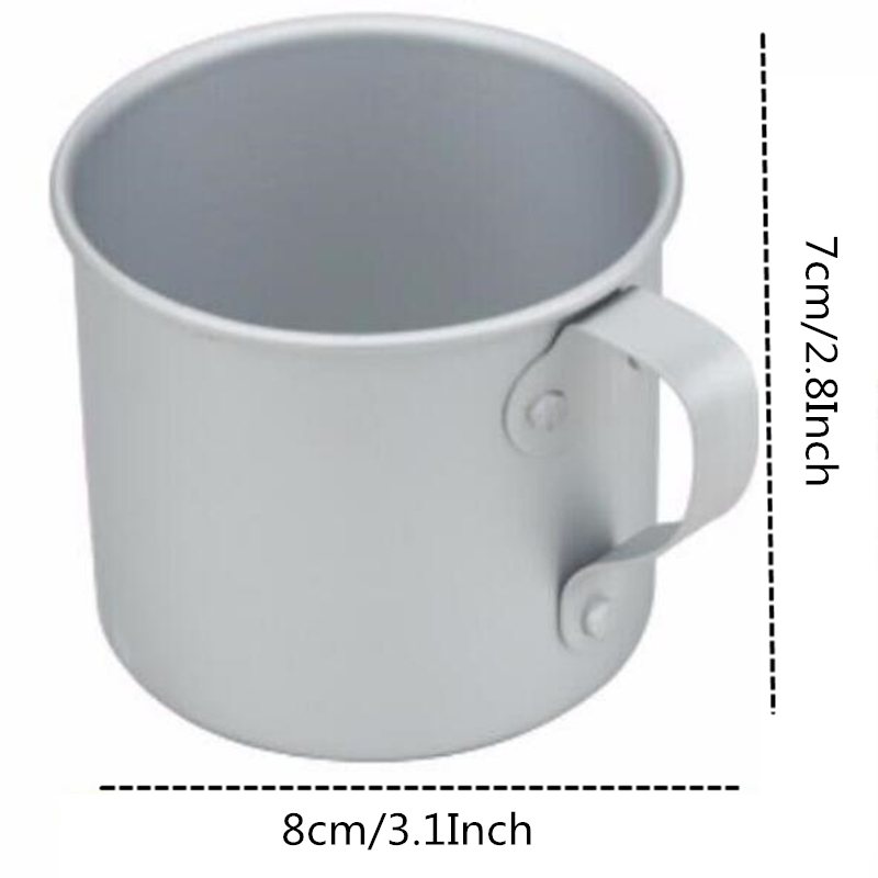 Image 2 - VILEAD 2 Pieces Aluminum Water Cup Mug with Lid Handle Folding Spork for Outdoor Camping Hiking Picnic Backpacking Ultralight-in Outdoor Tablewares from Sports & Entertainment