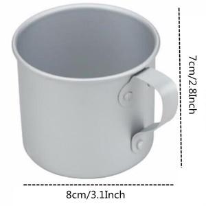 Image 2 - VILEAD 300ML 초경량 알루미늄 워터 컵 핸들 캠핑 하이킹 피크닉 배낭을위한 휴대용 야외 물병 머그잔
