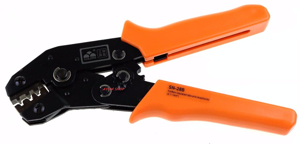 SN28B SN MINI EUROP STYLE crimping tool crimping plier 0.25-1mm2 multi tool tools hands orange colour ap 04wfl europ style ratchet crimping tools 0 5 4mm2 crimping plier multi tool tools hands