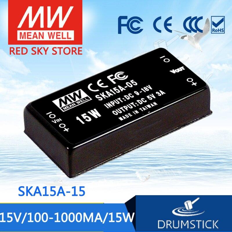 цена на Advantages MEAN WELL SKA15A-15 15V 1000mA meanwell SKA15 15V 15W DC-DC Regulated Single Output Converter
