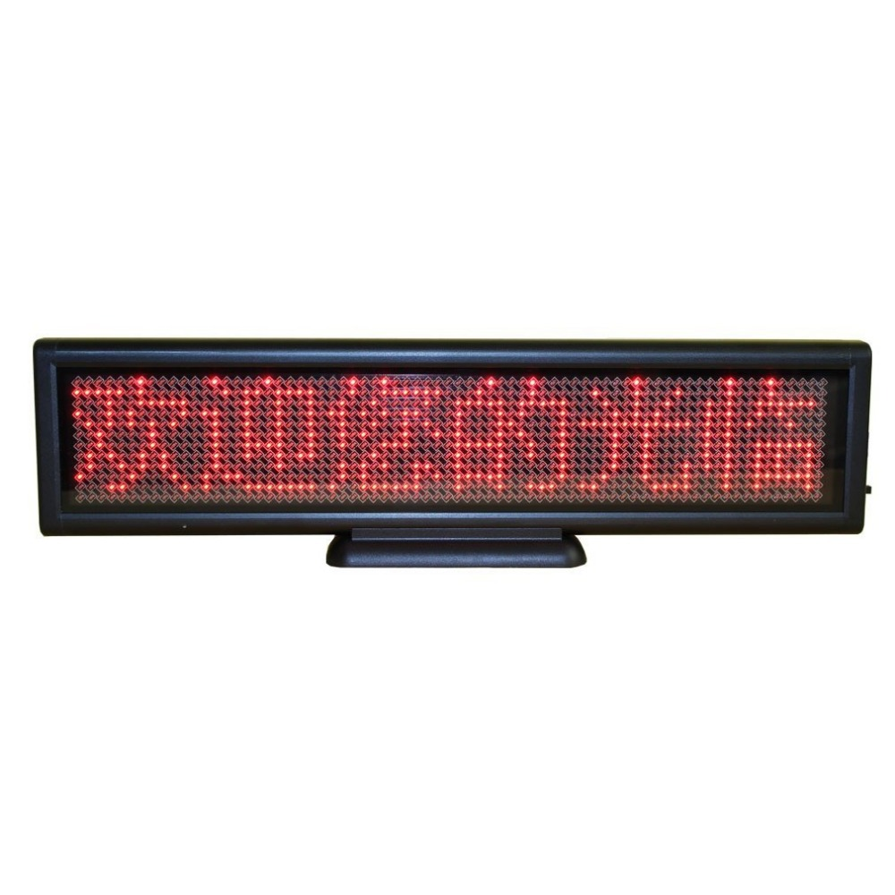 12x3inch Scrolling Electronic Led Sign Display Board,Rechargeable Usb Programmable Advertising Led Sign