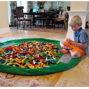 1.5M Kids Lego Play Mat Toy Storage Bags oversized Organizer Play Mat Capacity Durable Storage Bag Outdoor Building Blocks Mat
