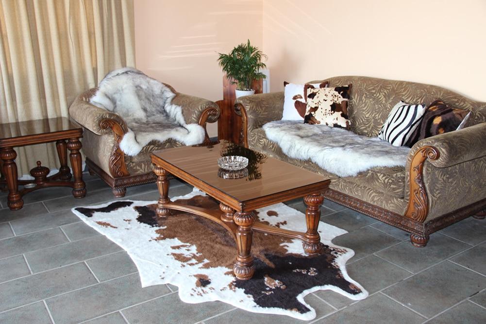 152x200 cm doux Faux peau de vache tapis 5x6.6 pieds vache impression tapis parfait jeter tapis pour salon/carrelage/salon/bureau