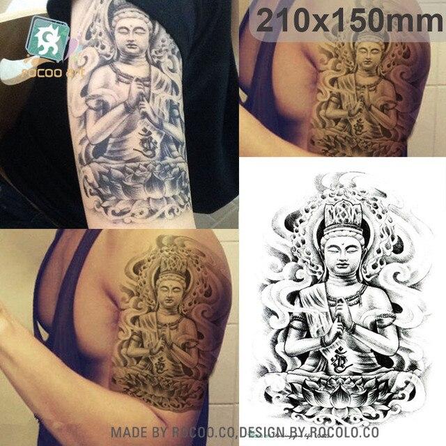 Us 19 21x15 Cm Duży Big Tatoo Naklejki Postać Buddy Rysunek Szkic Wzory Fajne Tymczasowy Tatuaż Naklejki Joss Tatuajes Temporales W 21x15 Cm Duży