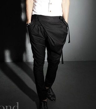 Hot! Summer 2020 New Fashion Tide Men Clothing Non-mainstream Harem Pants Trousers Boot Cut Jeans Hairstylist Nightclub Pants