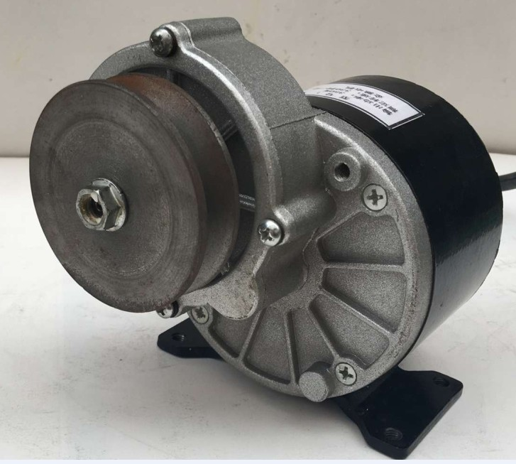 250w 12 v DC gear brushed motor with belt pulley, MY1016Z2 цена