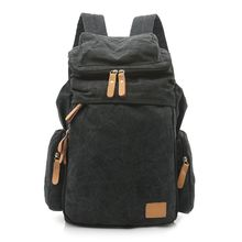 купить High Quality New Outdoor Travel Vintage Outdoor Canvas Backpack for Men Casual Daypacks Retro Rucksack в интернет-магазине