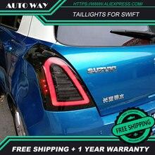 Автомобильный Стайлинг задние фонари чехол для Suzuki Swift задние фонари 2005- светодиодный задняя фара Swift задние фонари все светодиодные задние фары