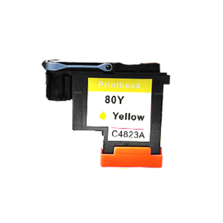 1Pcs CA4823A Yellow Printhead For HP 80 Designjet 1000 1050c 1055cm Printer 1pcs ca4820a black printhead for hp 80 for hp designjet 1000 1050c 1055cm printer