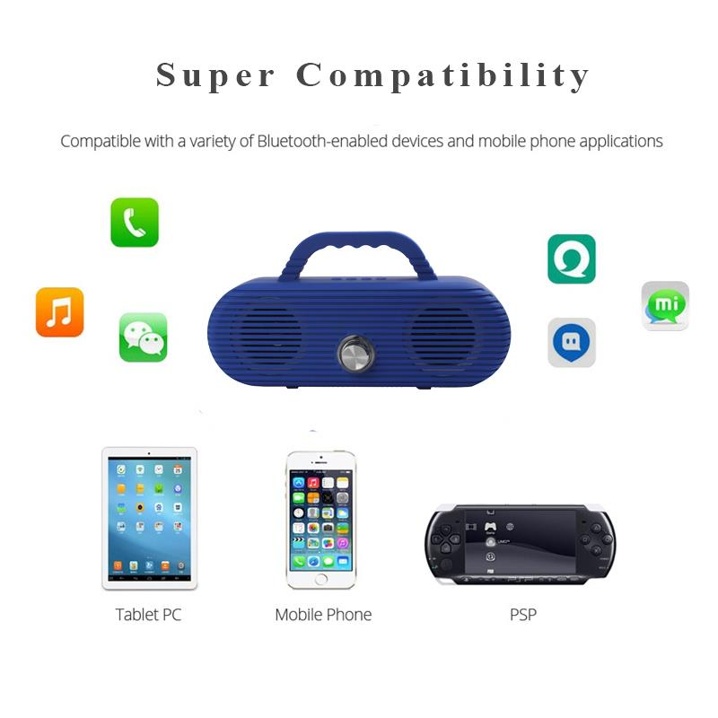 Image 3 - CM86 Portable Bluetooth Speaker Outdoor wireless column Waterproof Computer Speaker Soundbox With TF Card And USB FM radio-in Portable Speakers from Consumer Electronics