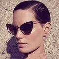 2016 Fashion Women Sunglasses Brand Designer Dit Cat Eye Glasses Retro Vintage Sun Glasses oculos de sol feminino