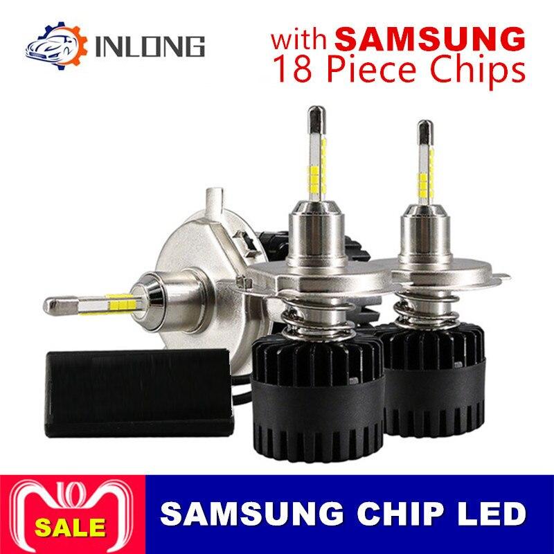 INLONG 2Pcs H4 LED Headlight Bulbs H11 H1 H7 9005 9006 SAM Chips 80W 10000LM 6500K