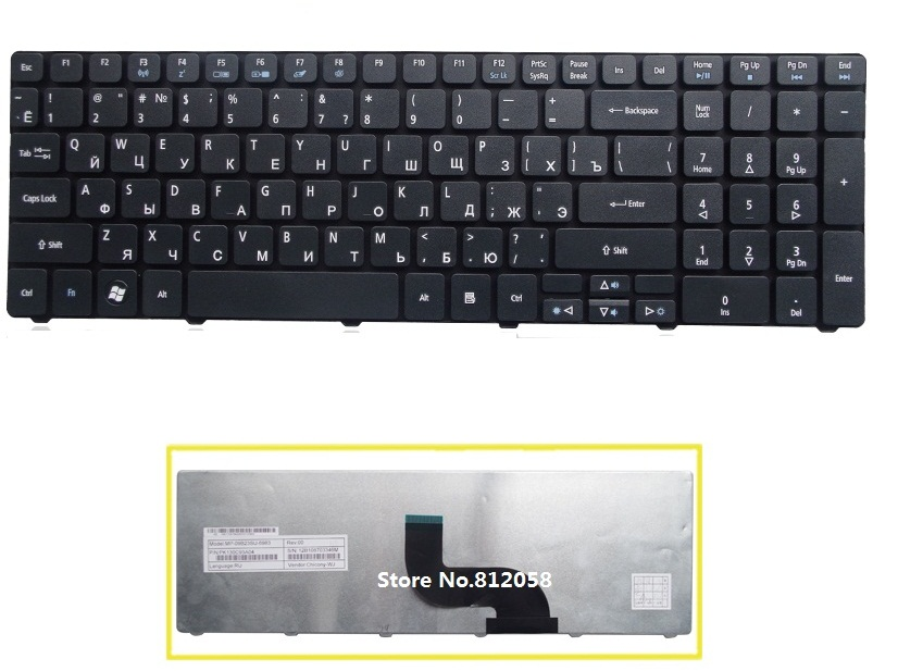 SSEA New laptop RU Keyboard Russian for Acer Aspire 5235 5742 7560 7560g 7735 7735G 7736 7741G 7741Z 7745G 7745Z 8942 8942G image