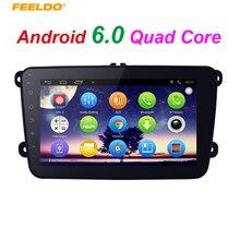 Feeldo 8-дюймовый ультра-тонкий Android 6.0 4 ядра медиа-плеер с GPS Navi Радио для VW Tiguan/Гольф 5/Мужские поло/Passat/Jetta/Touran