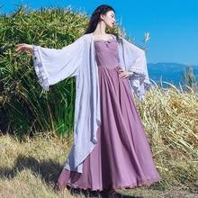 Gratis Bezorging 2019 Nieuwe Mode Vrouwen Chiffon Lange Flare Mouw Lente En Zomer Bovenkleding Boshow Bandage Borduren Vest