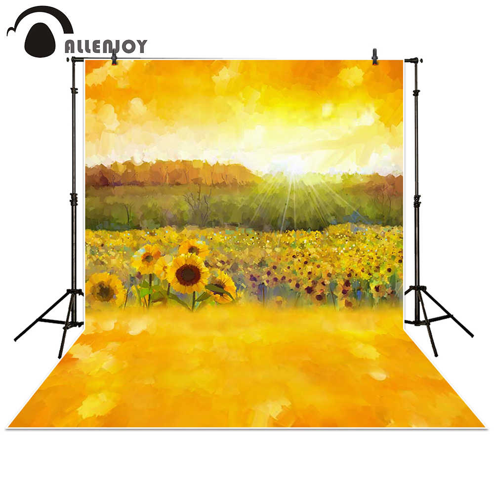 YEELE 8x6ft Sunflower Theme Backdrop Kids Birthday Party Photography Background Happy Birthday Decoration Baby Newborn Boys Daughter Artistic Portrait Photobooth Props Digital Wallpaper