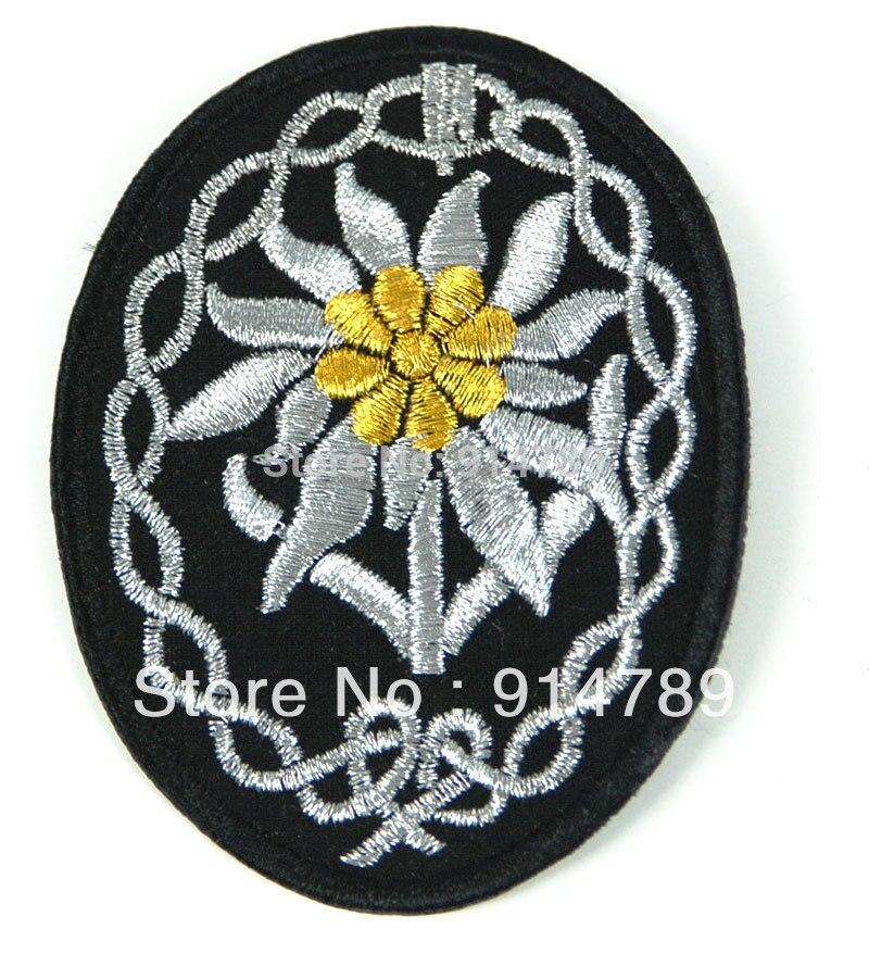 WWII GERMAN MOUNTAIN TROOPS ELITE OFFICER EDELWEISS BULLION SLEEVE PATCH-33146