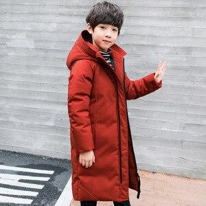 Image 5 -  30 gradi di abbigliamento per bambini 2020 ragazzo vestiti caldi di inverno giù giacca di cotone Con Cappuccio del cappotto impermeabile addensare tuta sportiva dei bambini parka