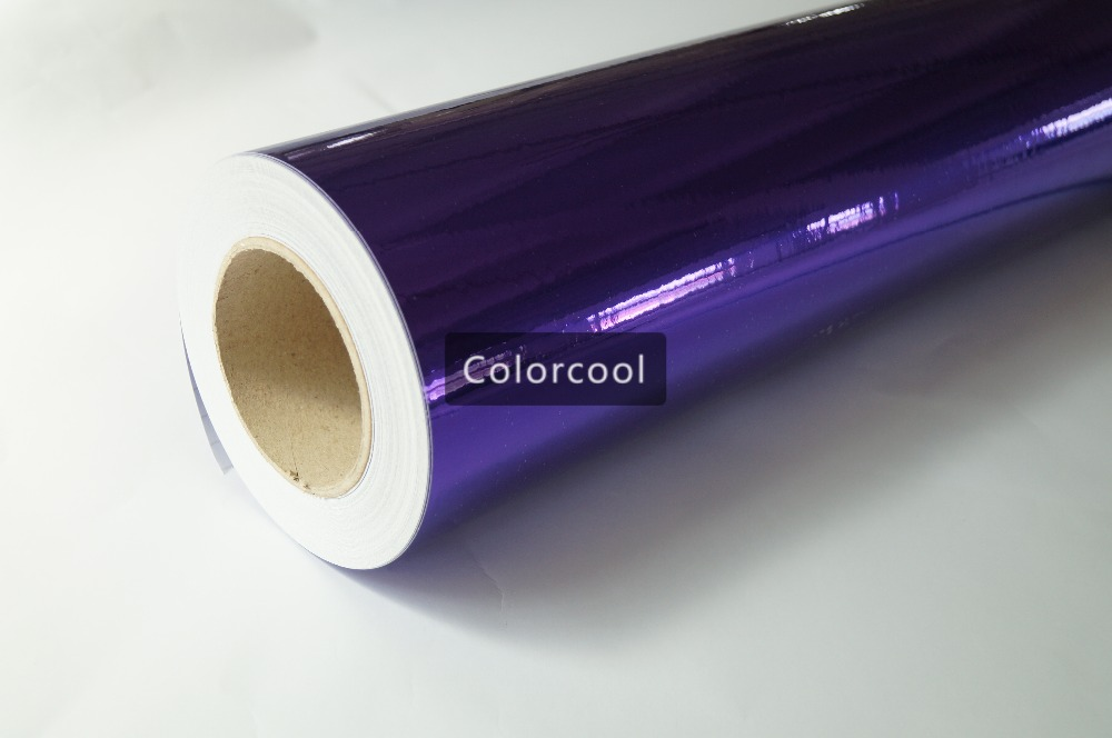Фиолетовый Зеркальный Хром Винил Обёрточная бумага высокой поли блестящие Chrome Наклейки для автомобиля хром автомобиля Обёрточная бумага