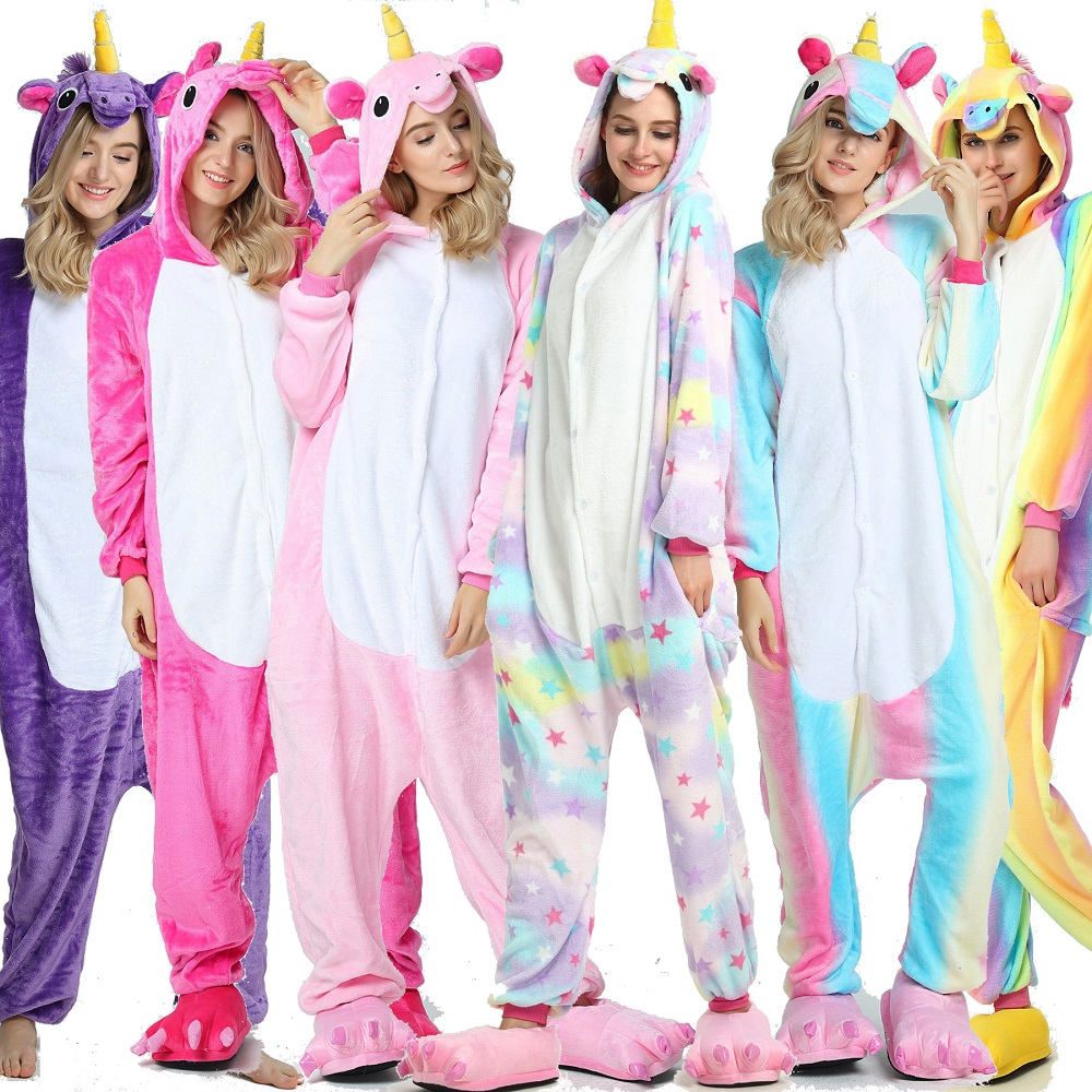 Зимняя женская пижама Kigurumi Единорог стежка животные звезда комбинезоны взрослые мужчины пара костюм косплей фланелевые Большие размеры пижамы on Aliexpress.com | Alibaba Group