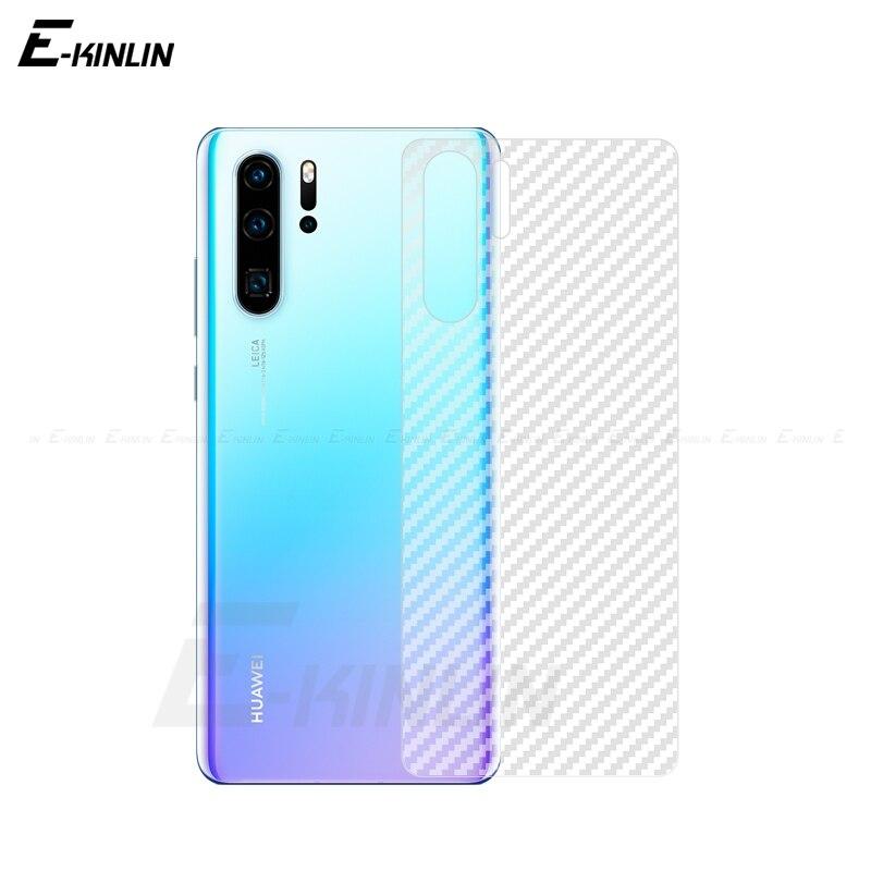 Z włókna węglowego ochronna tylna Film dla Huawei P30 P20 Pro P10 P9 P8 Lite Plus mini 2017 tylny folia ochronna nie hartowane szkło