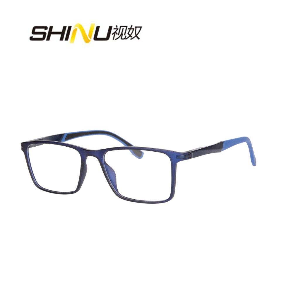 Anti Glare Coated Multifocal Lenses Reading Eyeglasses Unisex TR90 Spectacle Antifatigue Progressive Computer Reading Glasses