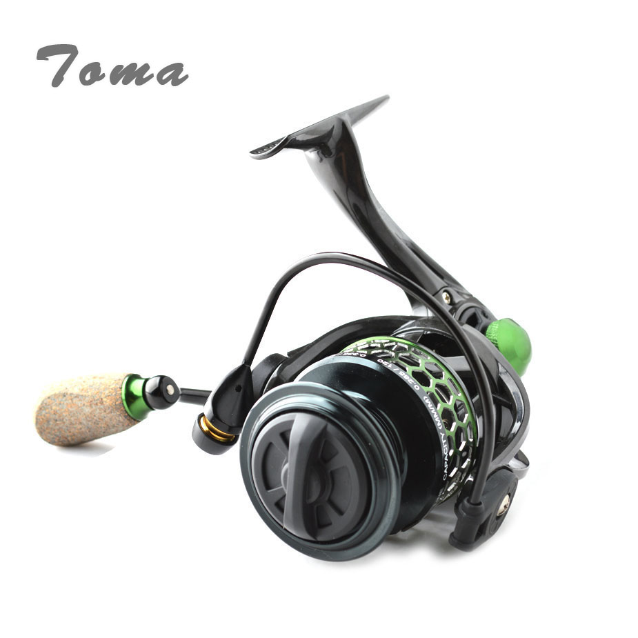 TOMA Ultralight Carbon Spinning Reels 5 2 1 9 1BB 1000 2000 3000 4000 Series Carp